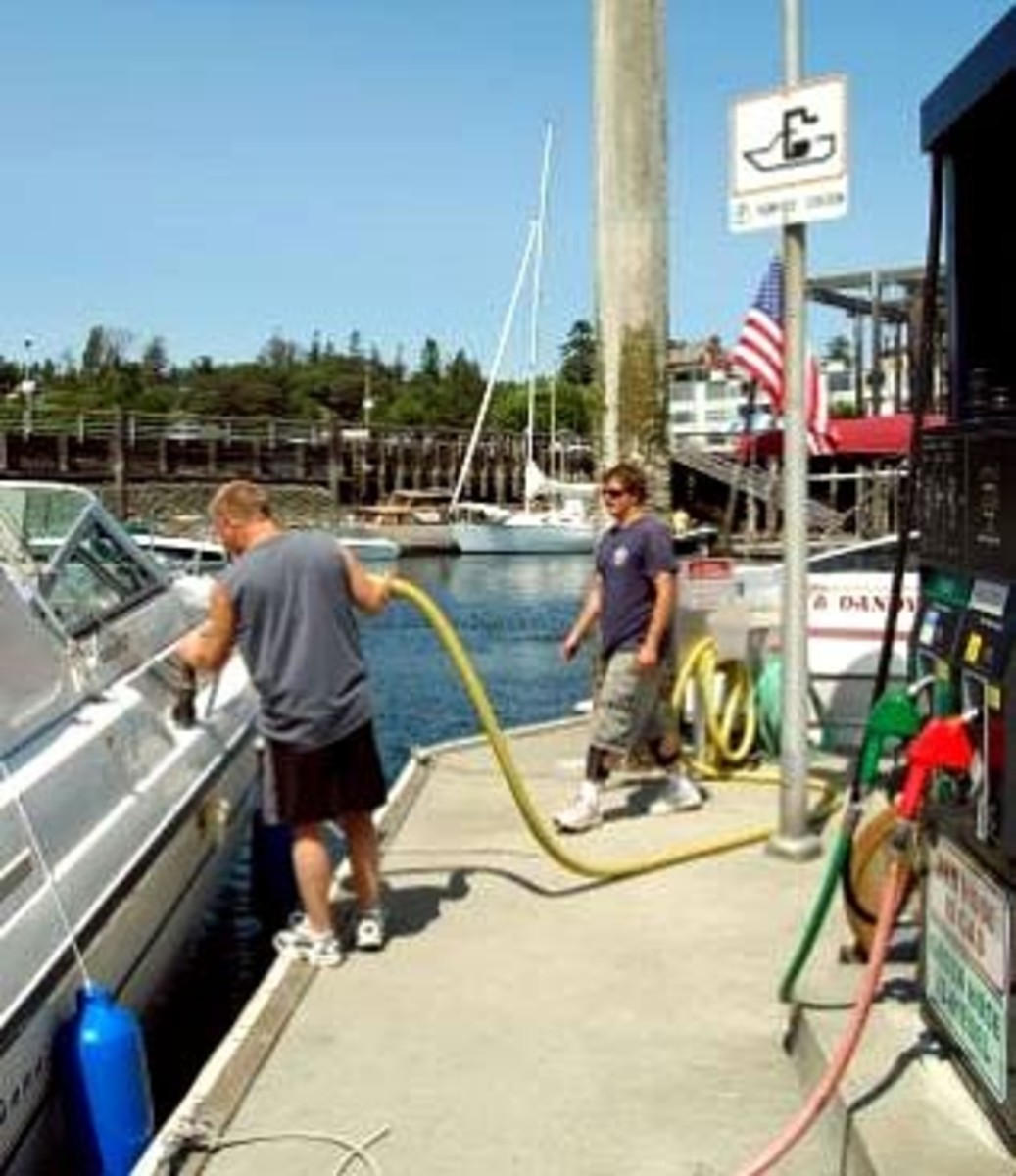 Dockside pump-out stations are self-service