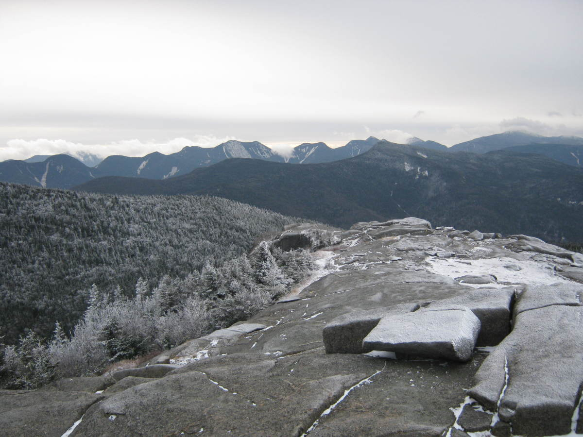 The view from Cascade's summit is fantastic toward the Great Range.