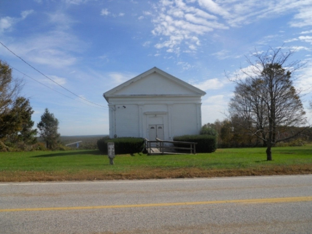 "The ""Line Church"" on Route 49"