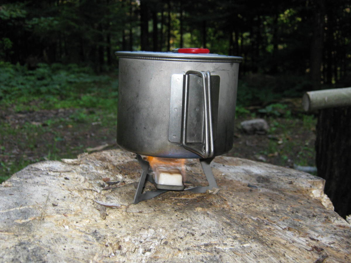 Solid fuel stoves like this are lightweight and easy to use.