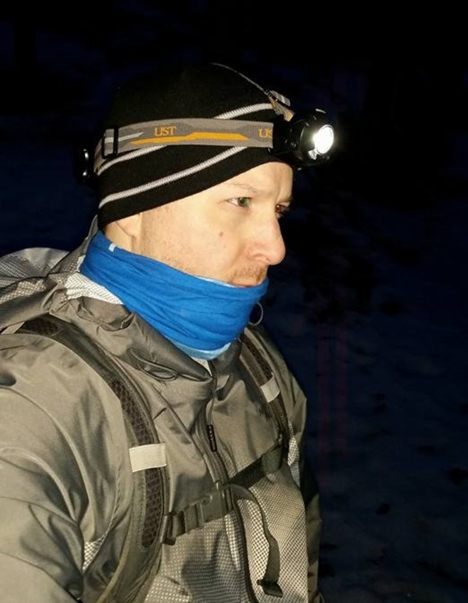 Out for a night hike with the UST Enspire headlamp.