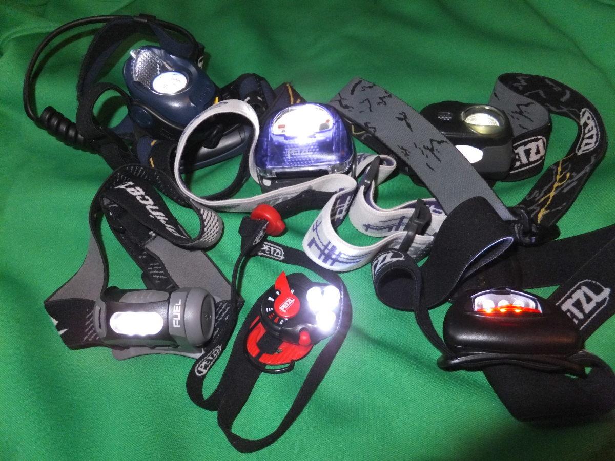 An assortment of headlamps.