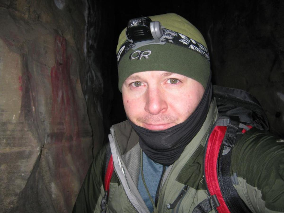 Headlamps are great for night hiking, or for cave exploring as I am doing here.
