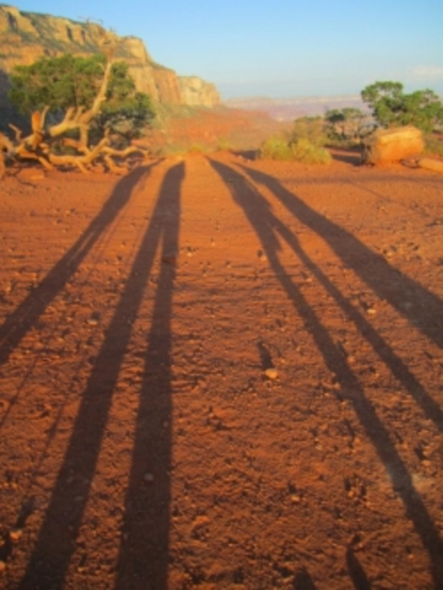 Growing shadows in Grand Canyon