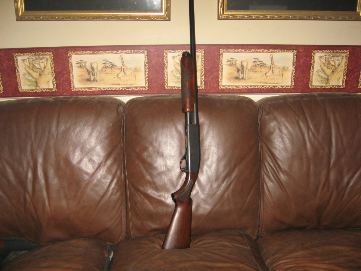 My trusty old Remington 870 Wingmaster 12-gauge shotgun
