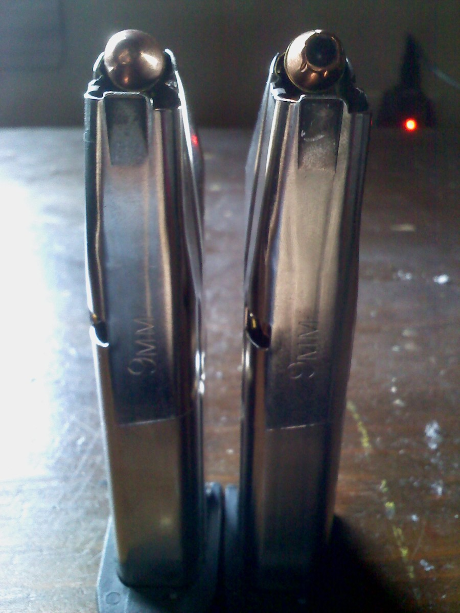 2 loaded Sigma 9mm magazines