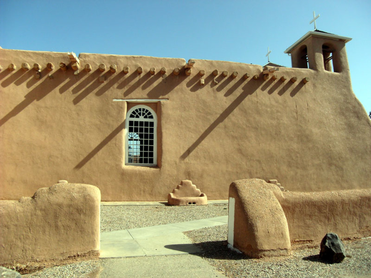 The Ranchos de Taos church is one of the most photographed churches in America