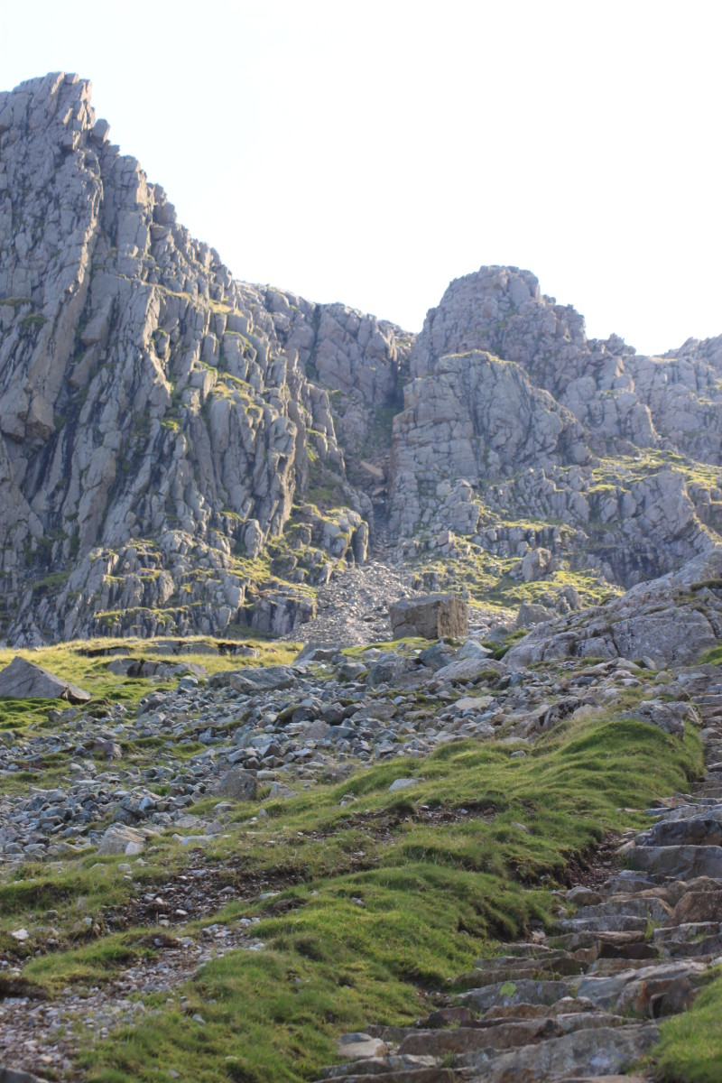 The Path continues up the scramble to Mickledore