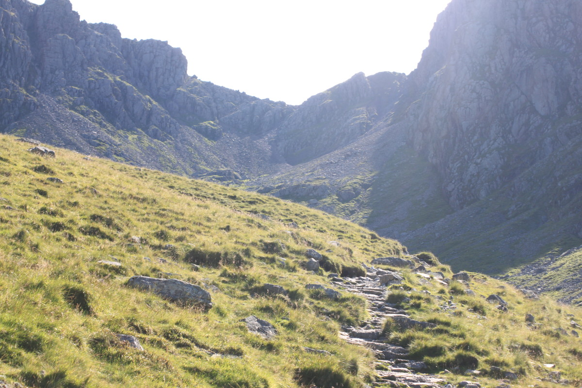 The path splits right towards the Mickledore Col which offers a fantastic scramble to test your legs