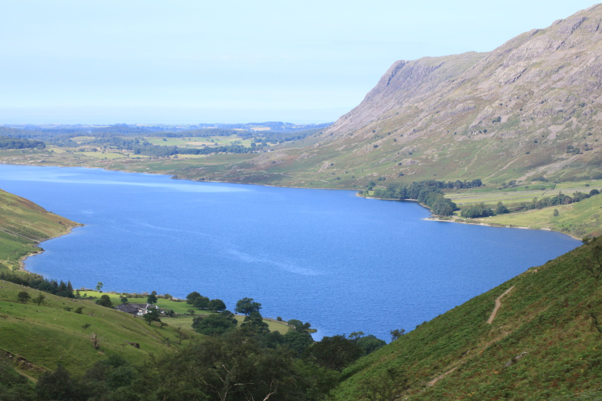 Looking back on the deep blue colour of Wast Water