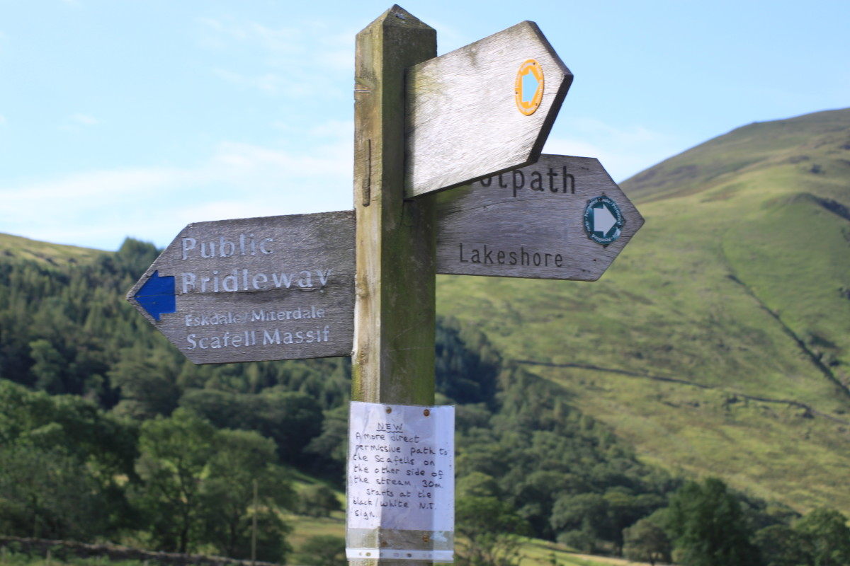 Follow the signs for the Scafell Massif from Wasdale