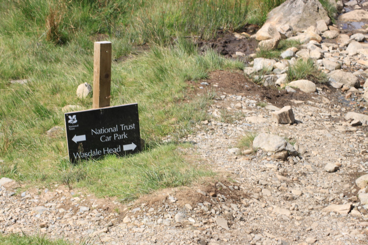 Follow the signs for Wasdale National Trust Car Park (If that's where you parked!)