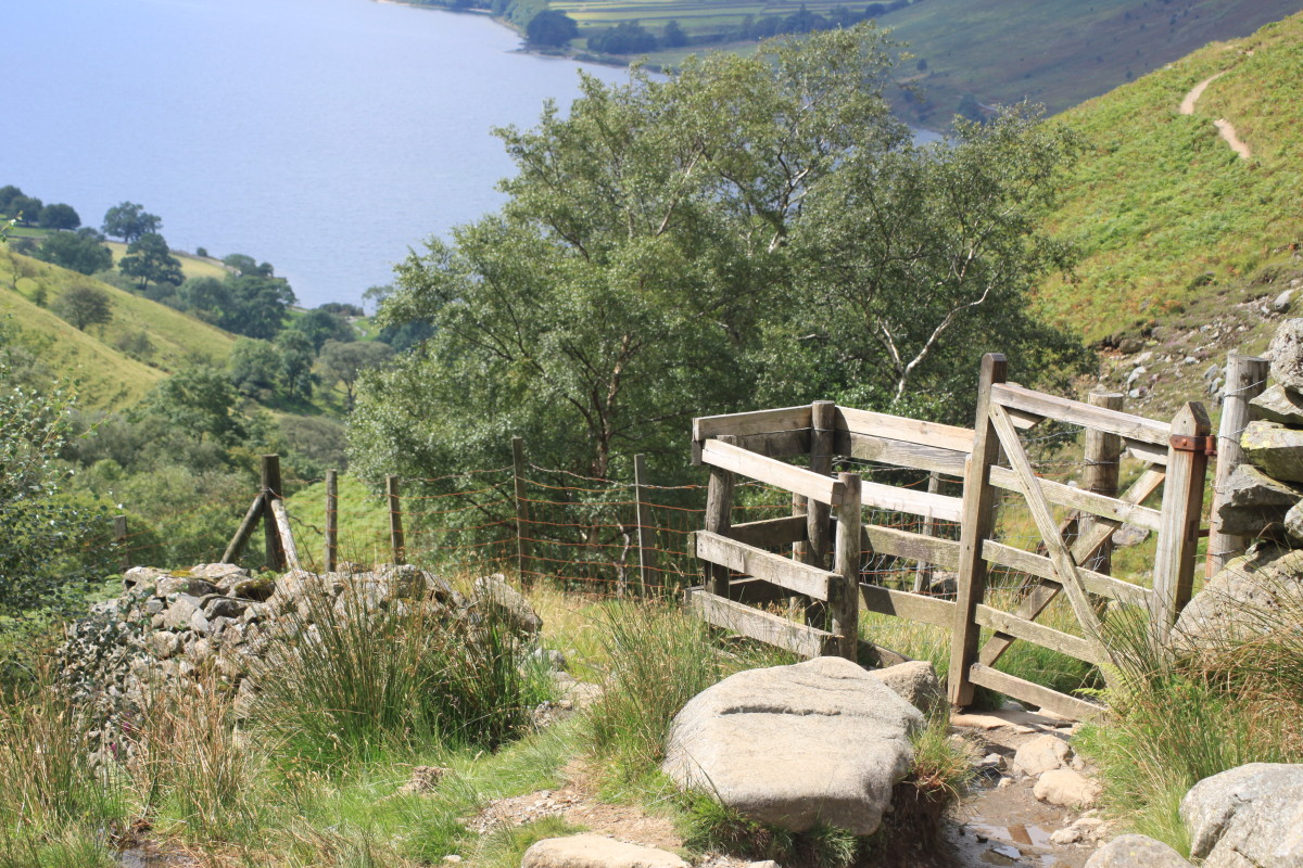 Head through the stile on the way back down