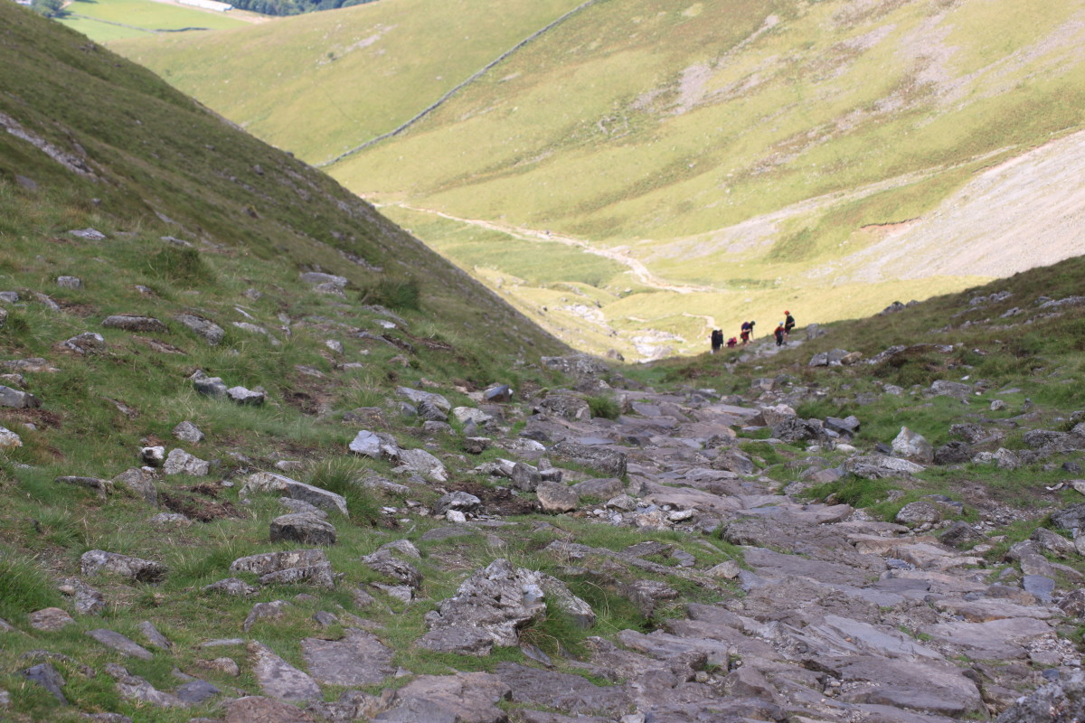 The path continues to lose altitude on the way back down to Wasdale