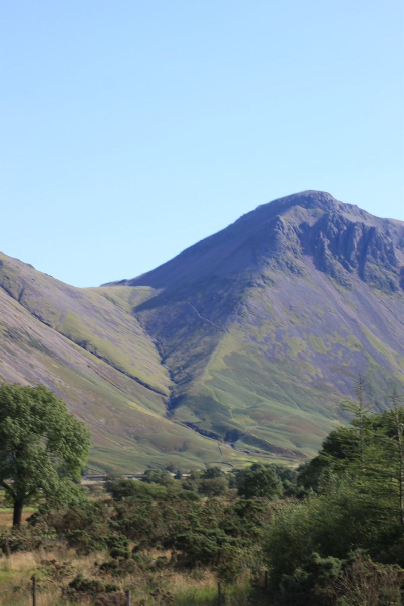 The view out to Kirk Fell and Great Gable from Wasdale
