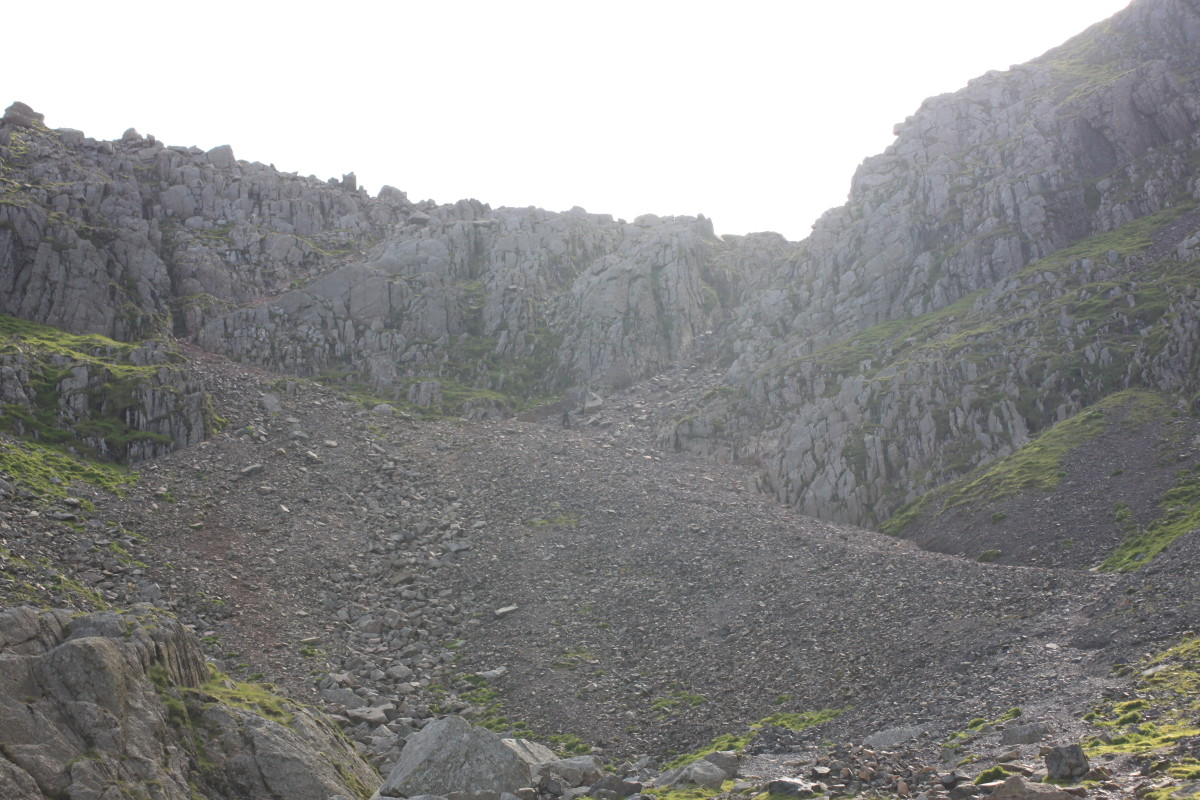 The final scramble up to Mickledore en route to Scafell Pike.