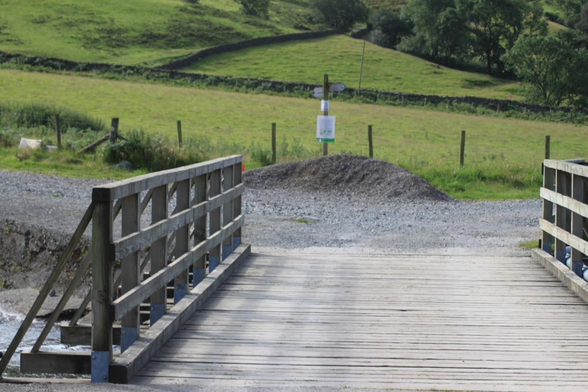 Cross the bridge over Lingmell Brook and head left