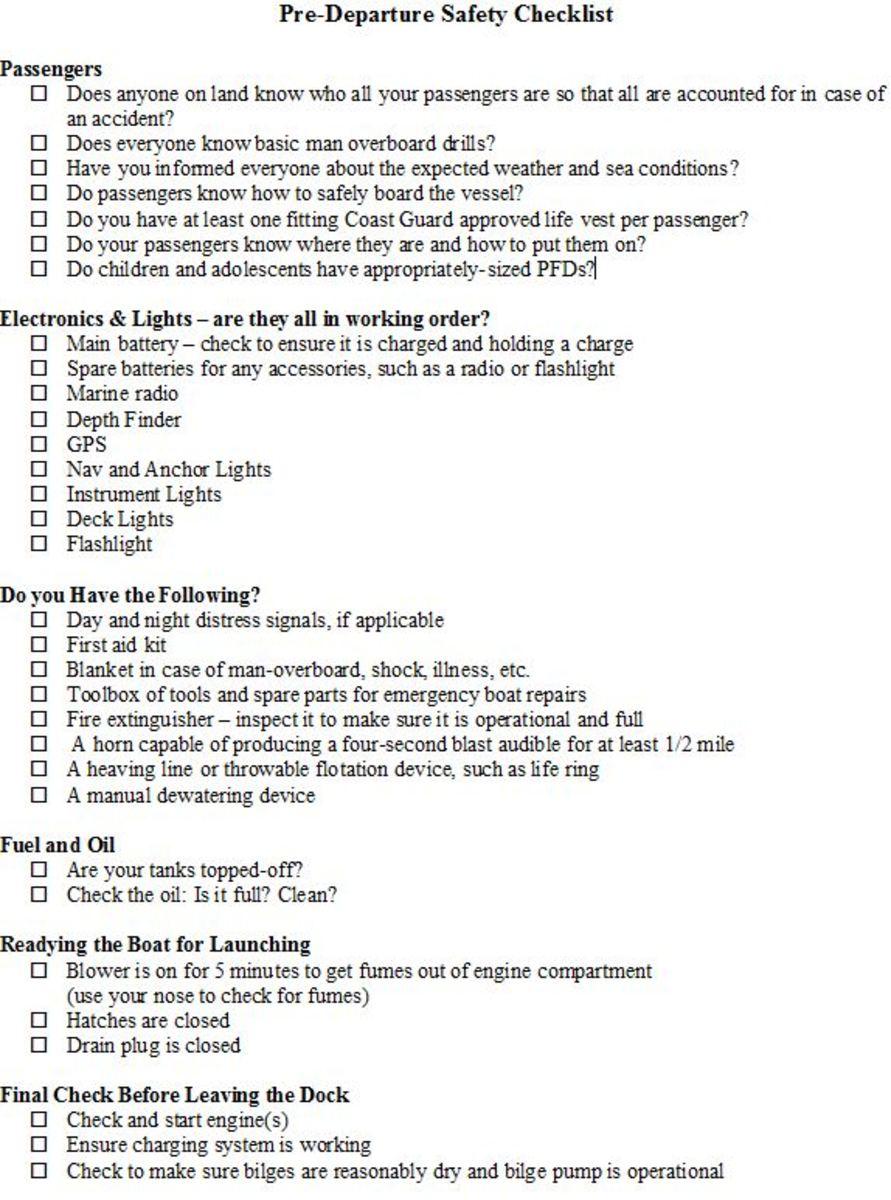 free boating safety tips and checklist. Black Bedroom Furniture Sets. Home Design Ideas