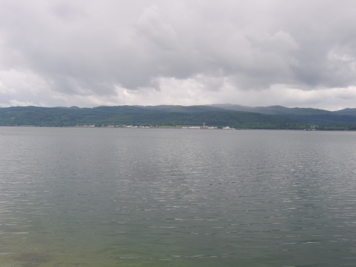 Inveraray is straight across Loch Fyne from St Catherines jetty