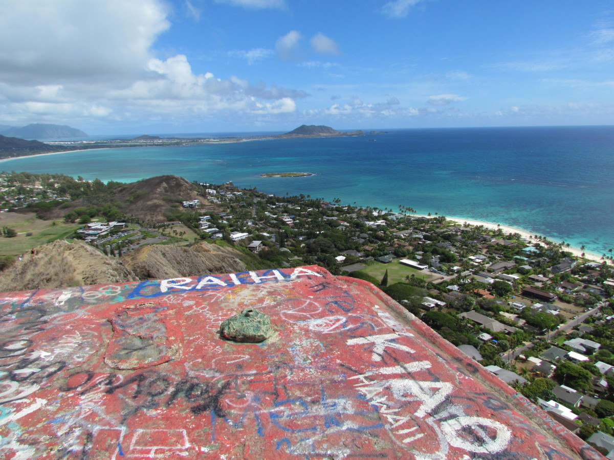 Looking towards Kailua from the pillbox's roof