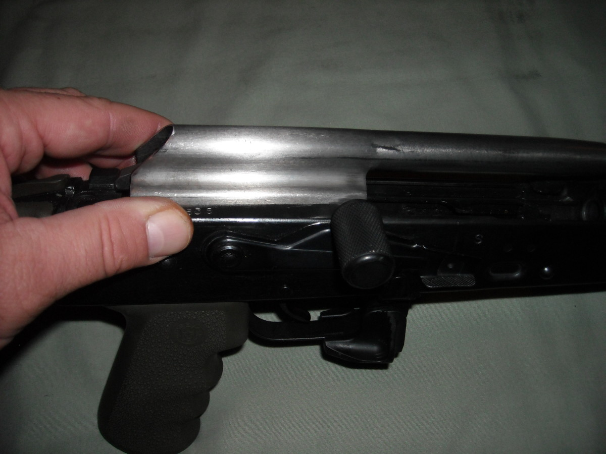 When seating the bolt carrier group into the receiver, ensure the rear notches align with the notched openings on the receiver, push down and slide forward.