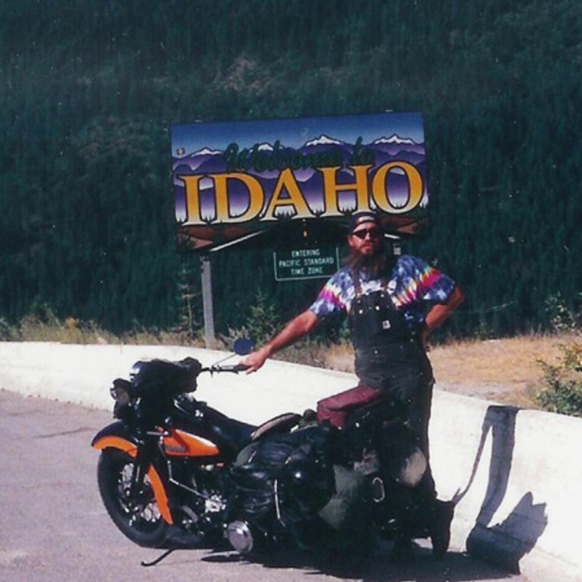 The old man at the Idaho border