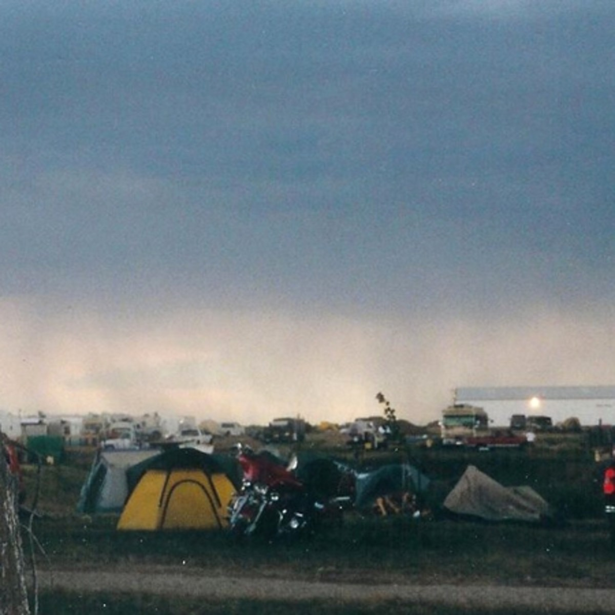 We'd just arrived at Buffalo Chip pitched the tent when this storm blew in