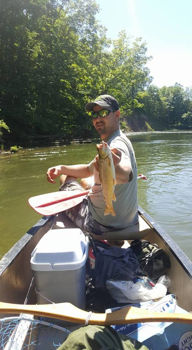 A reader sent me this photo after a successful days floating the Manistee River in Northern Michigan.