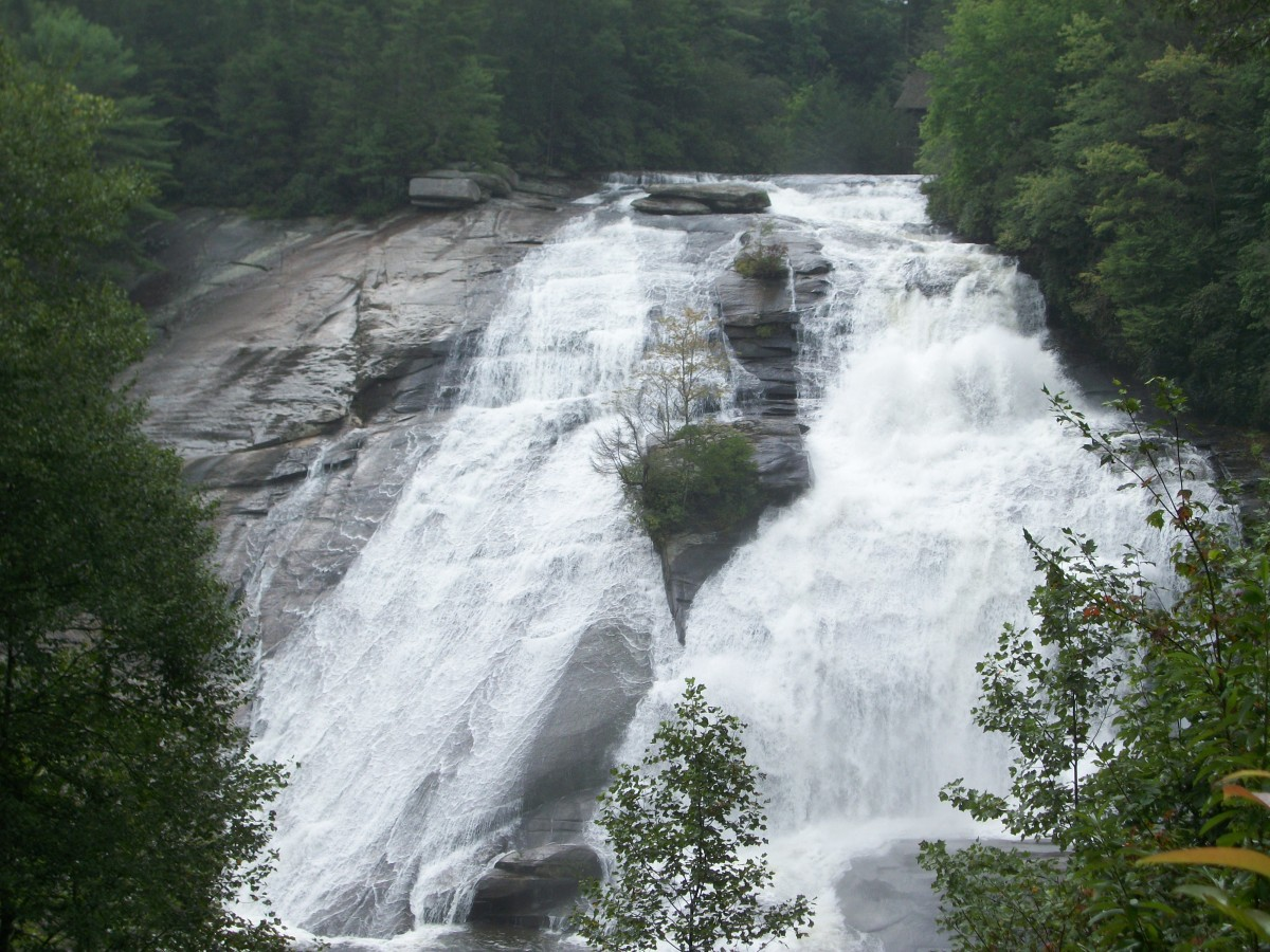 High Falls (photo 2).  The Covered Bridge is at the very top of this waterfall.