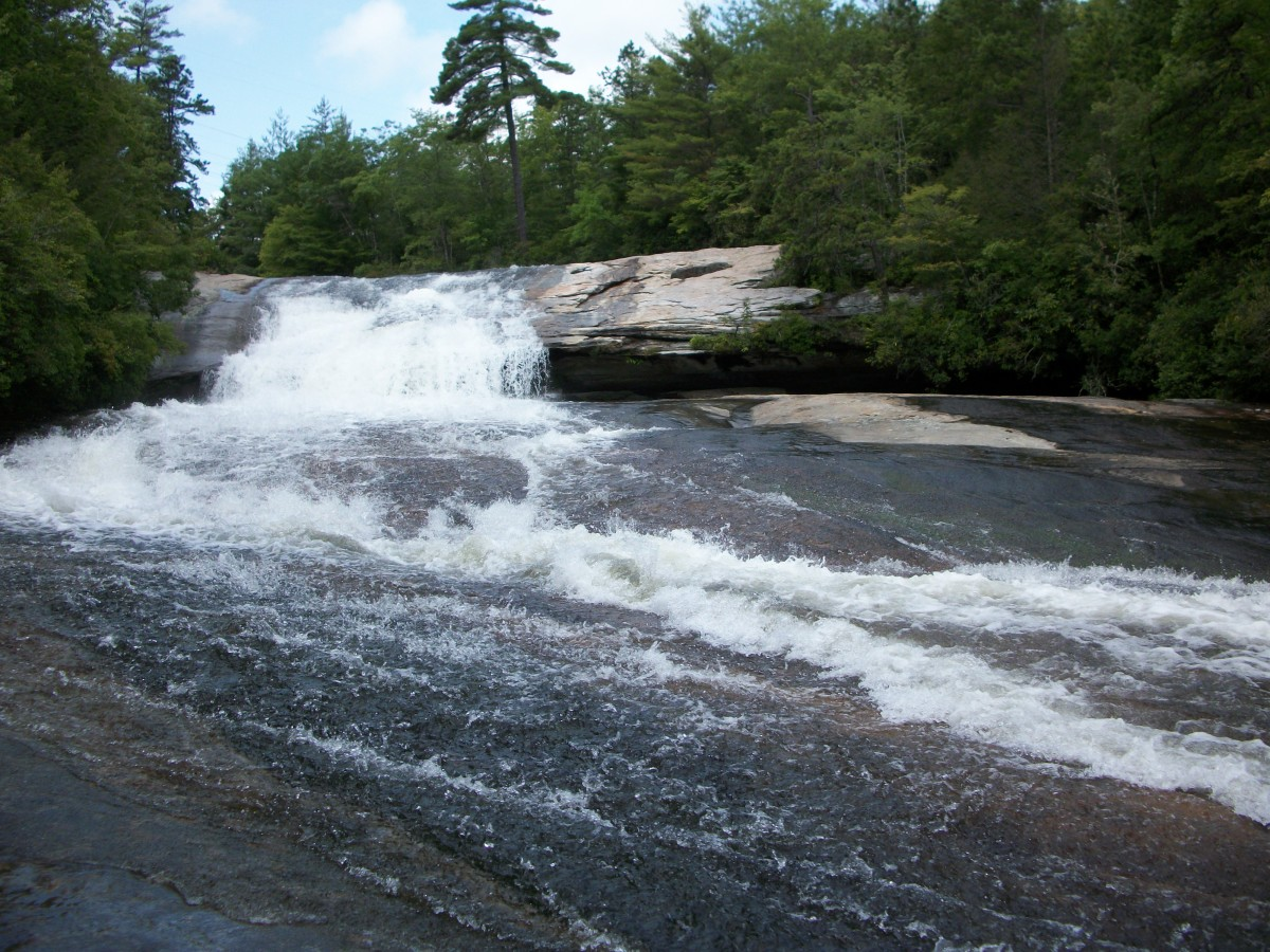 Bridal Veil Falls, at the very top Dupont State Forest - Cedar Mountain, NC