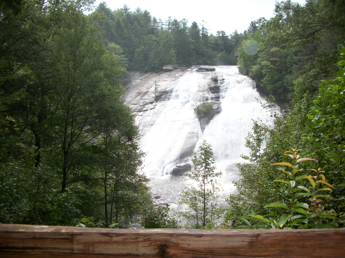 High Falls (photo 1).  The Covered Bridge is at the very top of this waterfall.