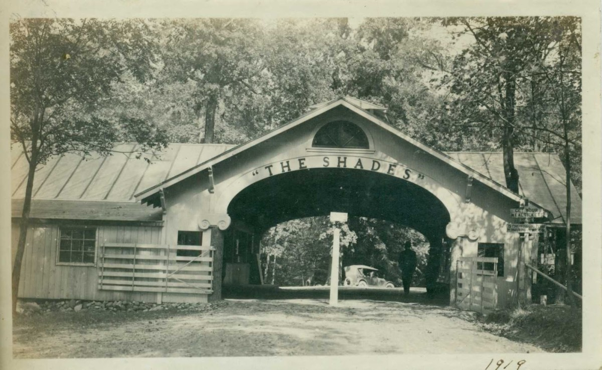 The Shades was a health resort before the state park was established