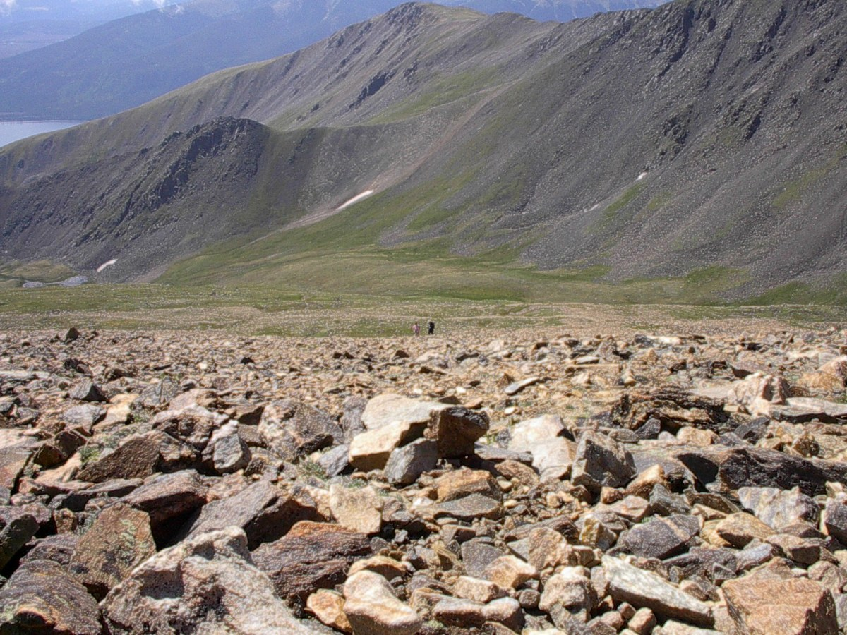 Climbing the southeast face of Mt. Elbert