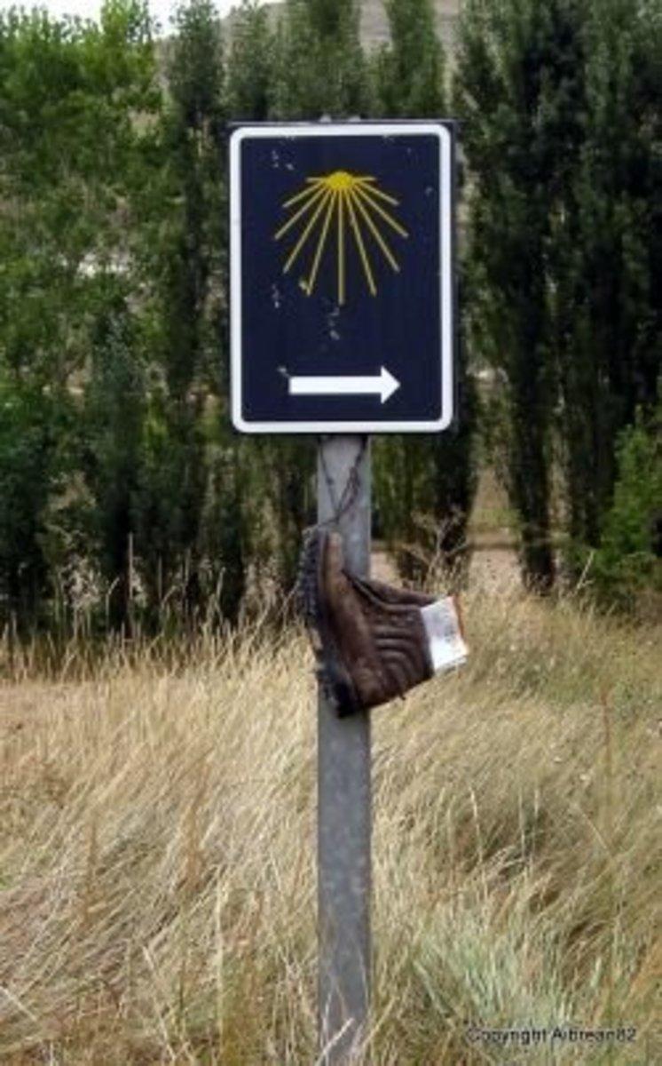 Abandoned shoe along the Camino.
