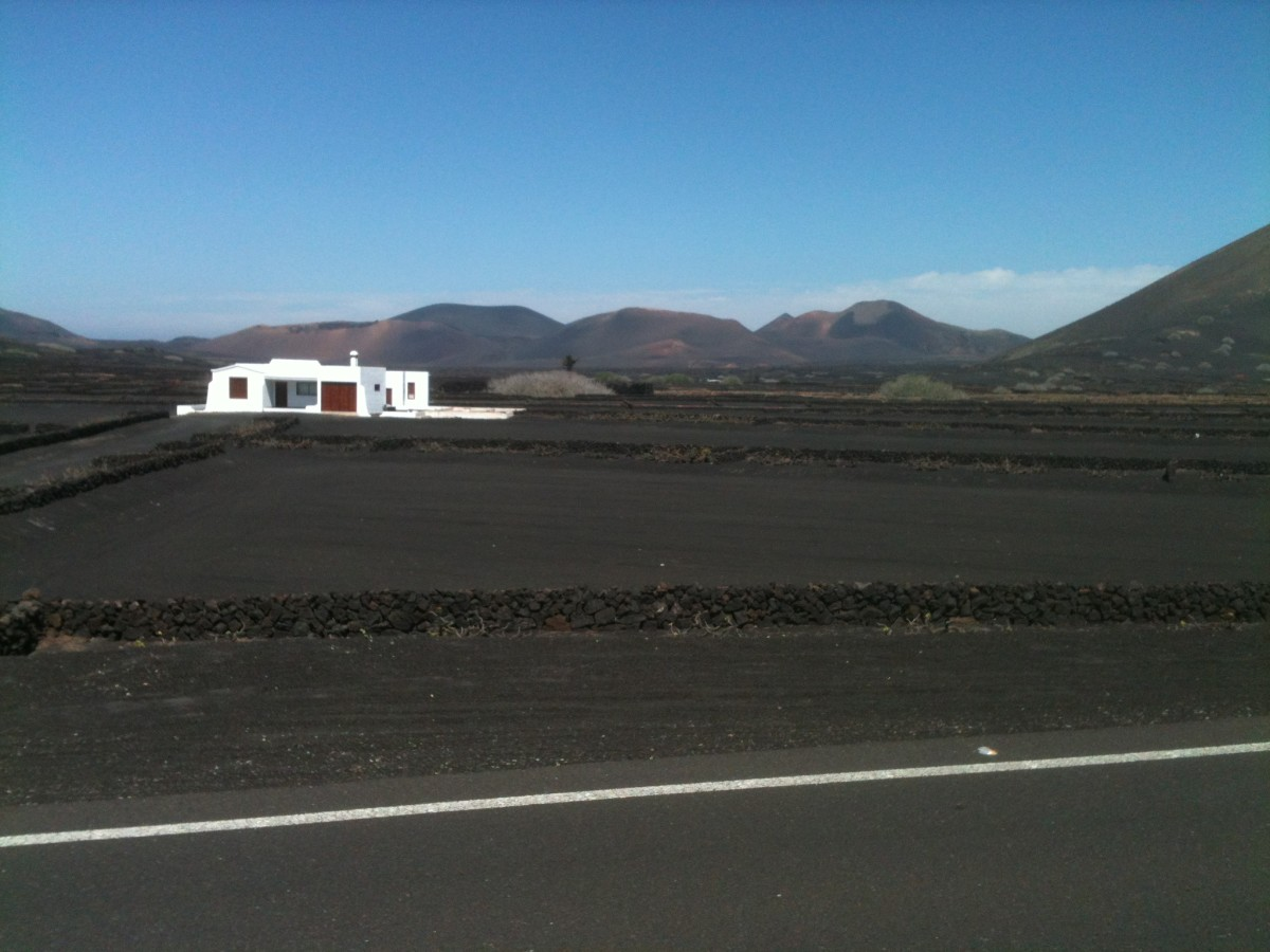 The rugged landscape of La Geria makes it an excellent Lanzarote cycling route