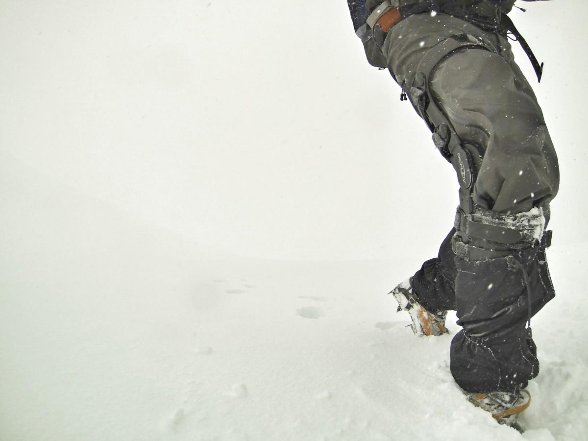 Kurt Morrison testing the Scarpa Triolet GTX Pro on Mont Blanc