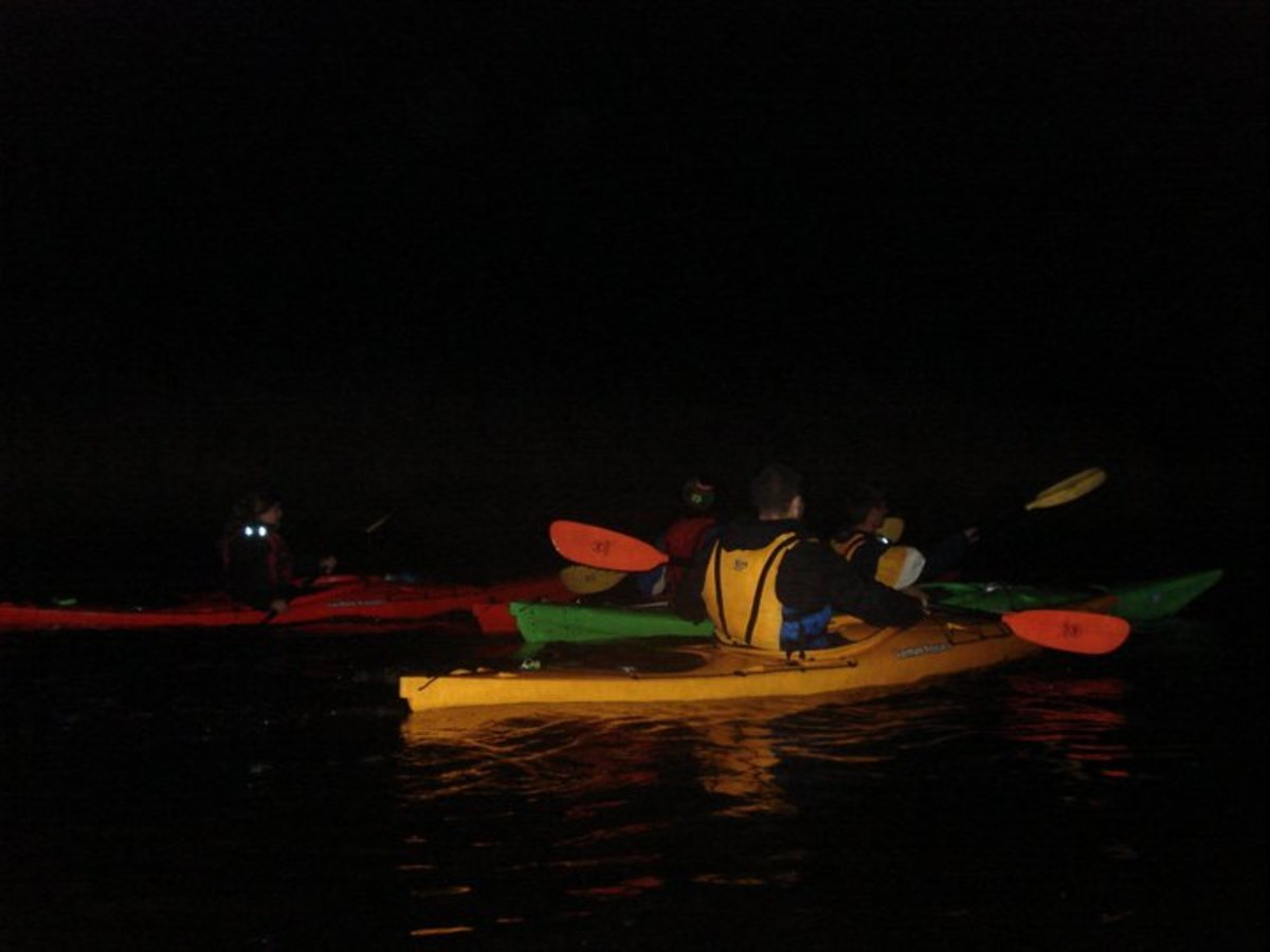 Why sleep at night? Go kayaking instead.
