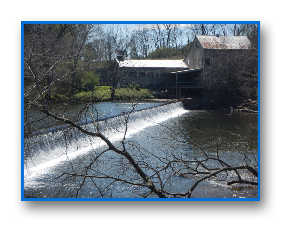 Cortner Mill Dam, halfway through the trip, must be portaged, but there is a fine restaurant there.