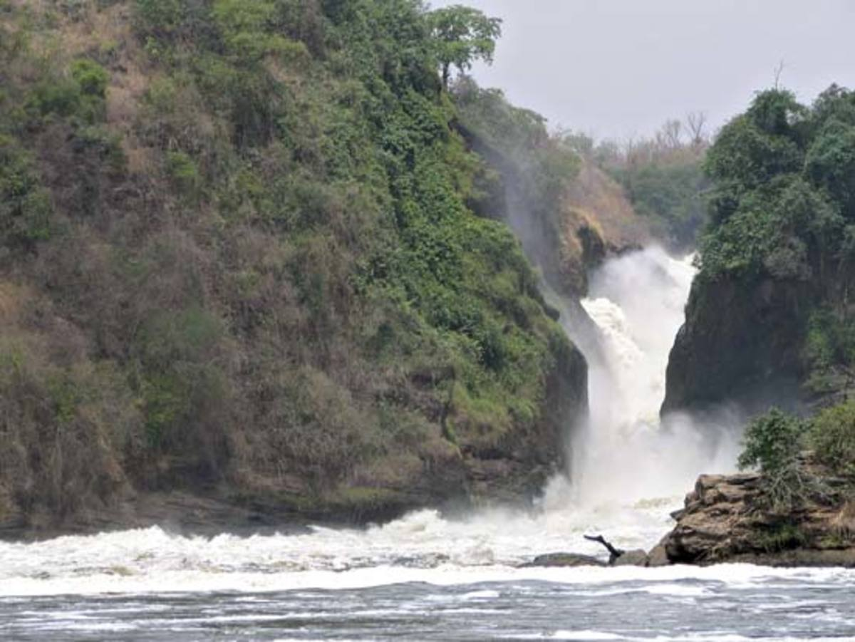 Murchison Falls on the Victoria Nile