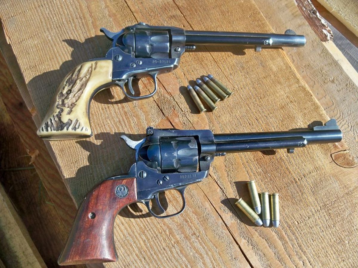 My dads two old model single sixes which have both been converted to center fire . Upper is chambered for the 22 CCM and lower for the 32 H&R mag.