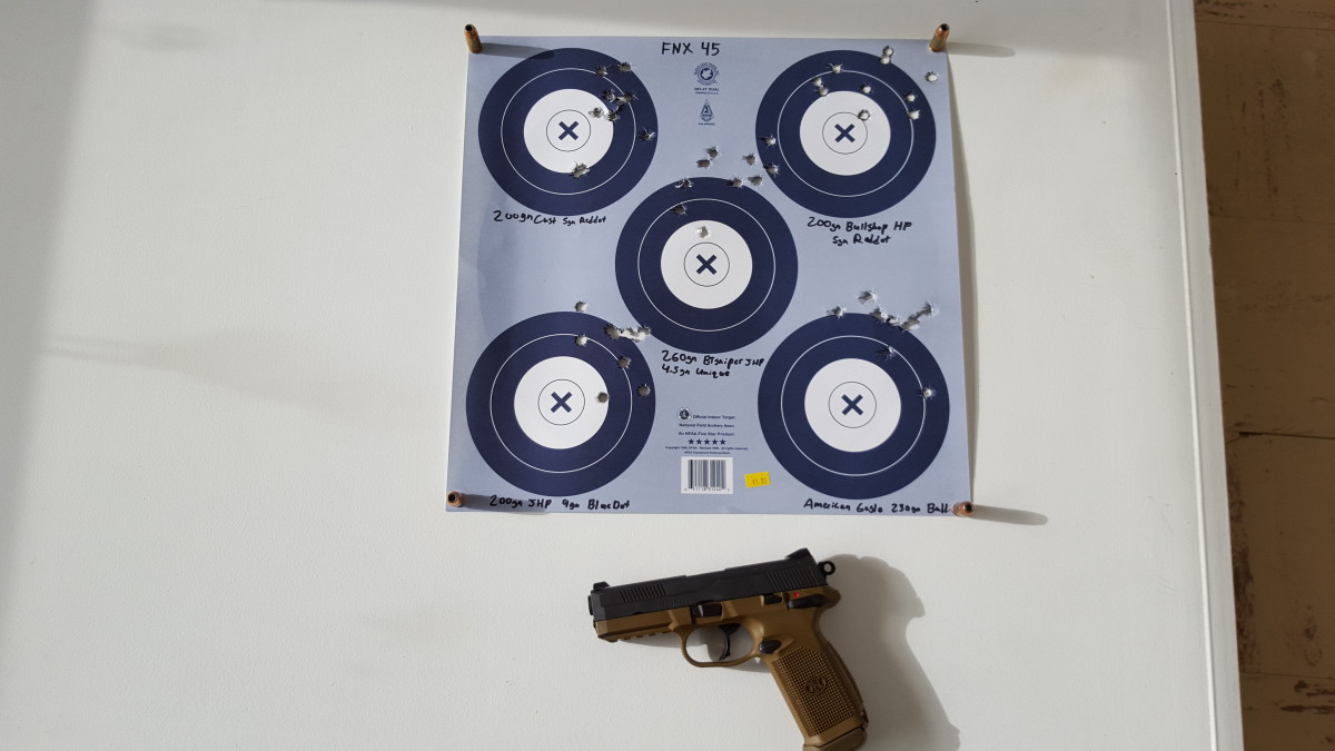 25 yard grouping with various ammo.