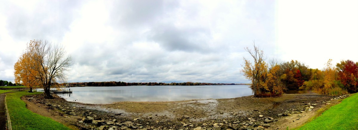 Panoramic of Mosquito Lake from Lakeview Recreation Area.
