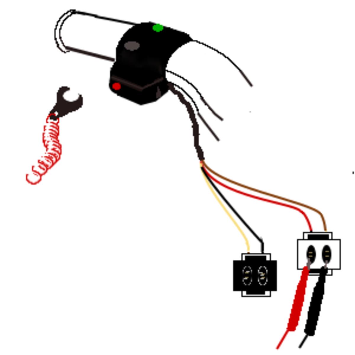 5. Probe the start switch.