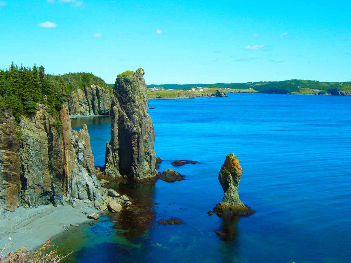 Sea Stacks viewed from the Skerwink Trail.