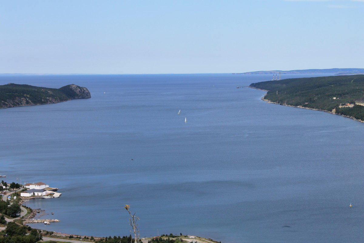View of Conception Bay from the top of George Cove Mountain, George Cove Mountain Trail, Kelligrews.