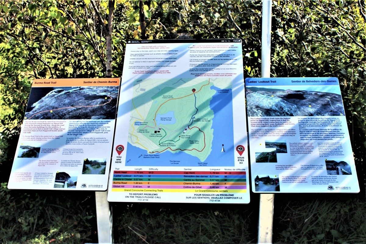 Trail Map and Information Posted on Trail Side Sign. These Signs Appear at Various Locations Throughout the Trail System.