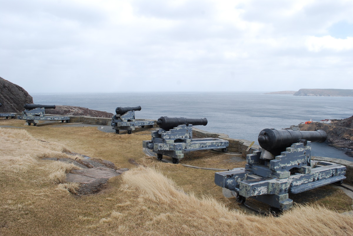 Restored armaments at the Queen's Battery.