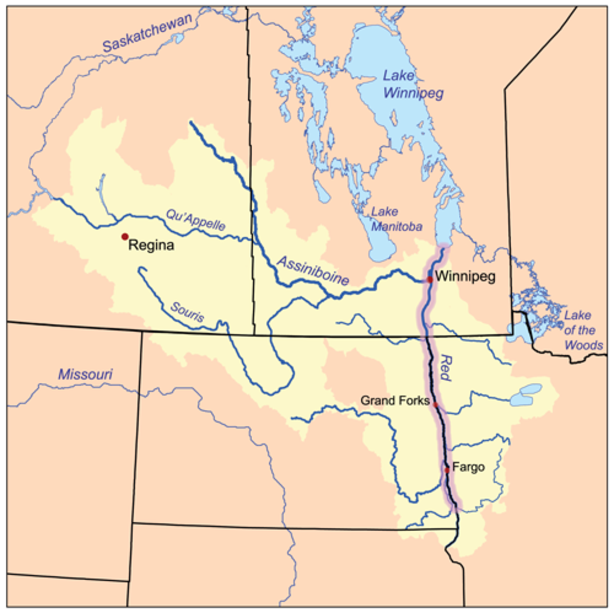 The Red River drainage