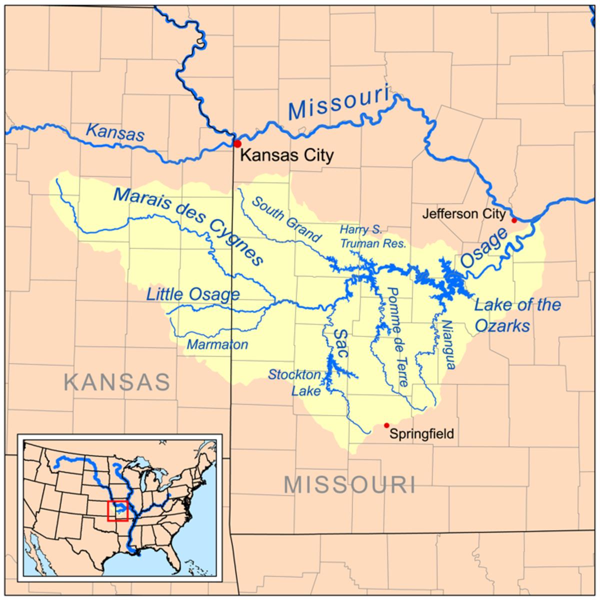 Osage River drainage