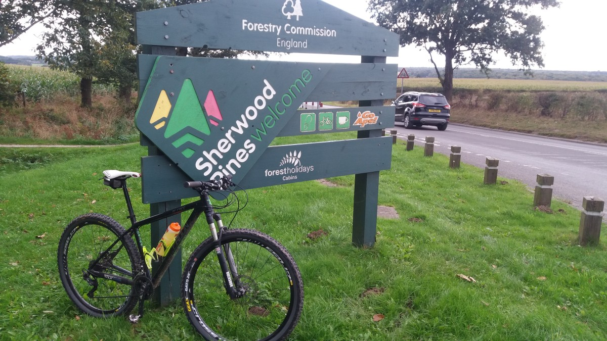 The Entrance to Sherwood Pines Forest Park and MTB Trail Centre at Kings Clipstone within Sherwood Forest